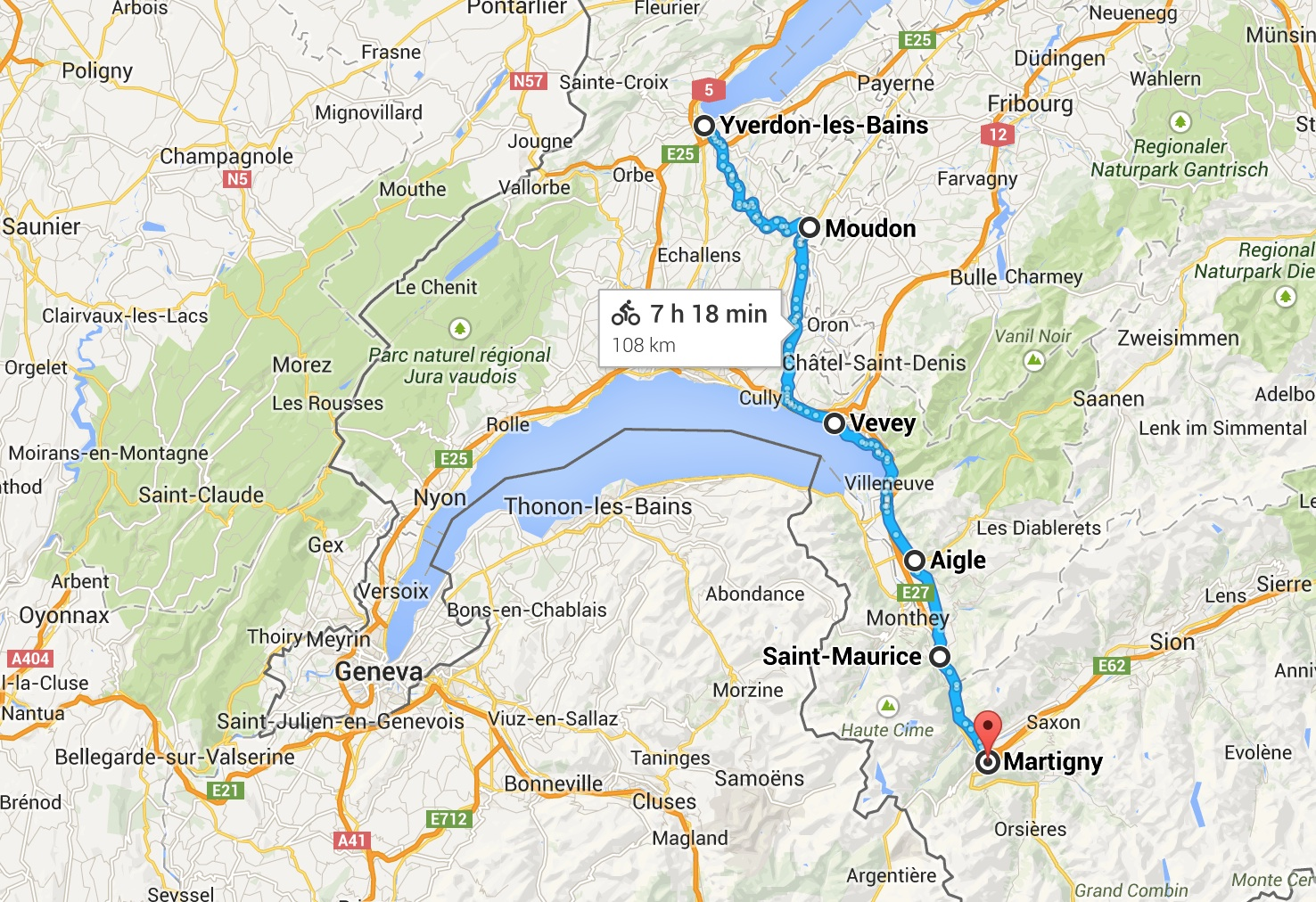 Day 4 - Yverdon to Martigny Switzerland