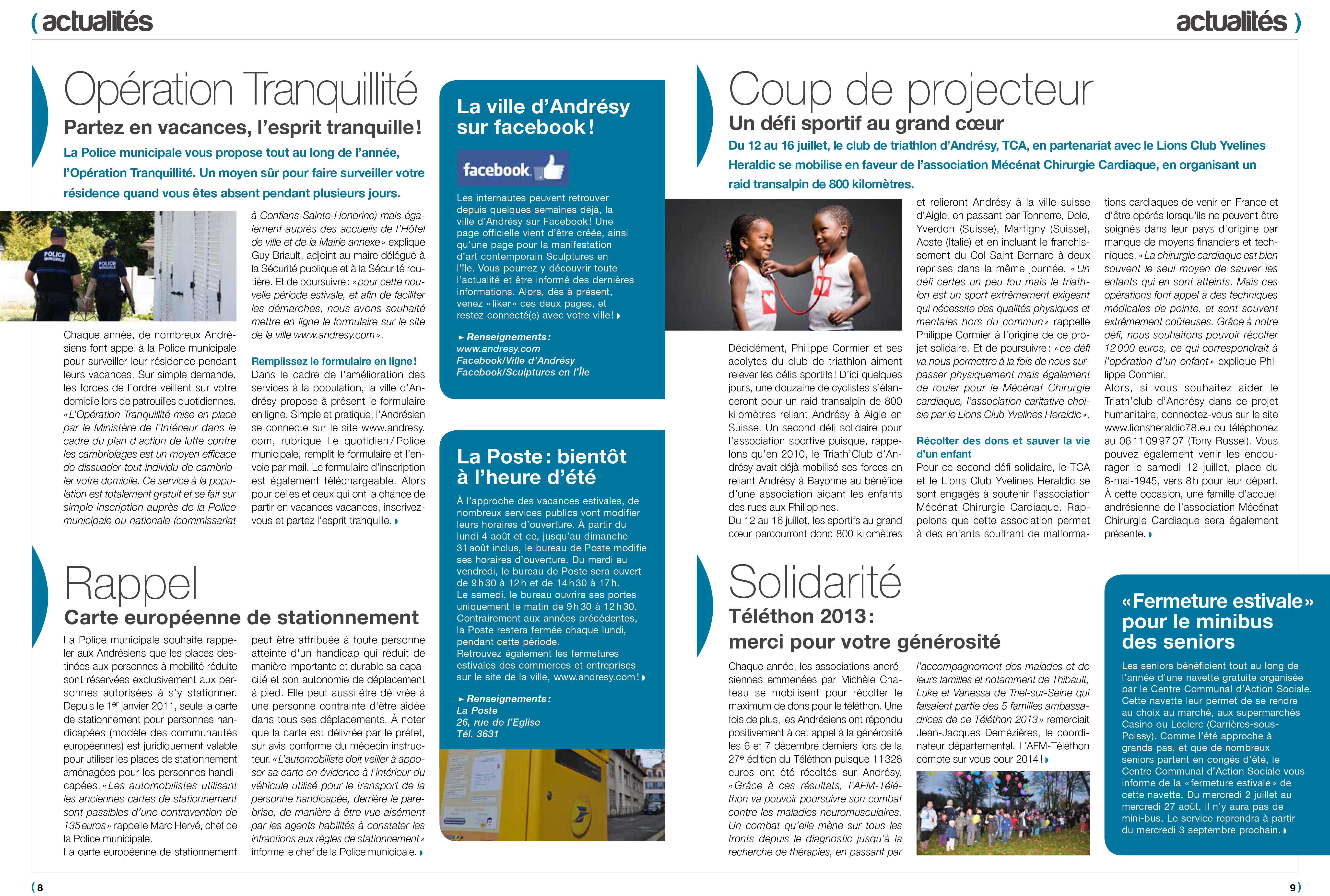 La gazette du val d oise le confluent andr sy lions club for Yvelines actives