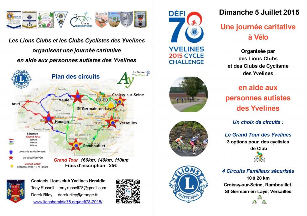 Grand tour des yvelines au profit de l association for Yvelines actives